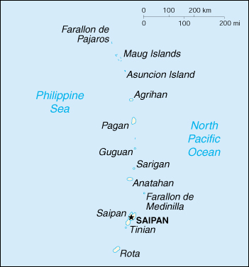 [Country map of Northern Mariana Islands]