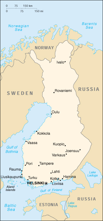 [Country map of Finland]