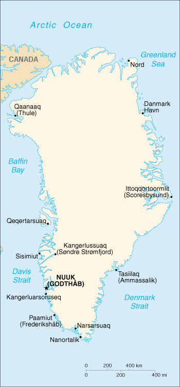 [Country map of Greenland]