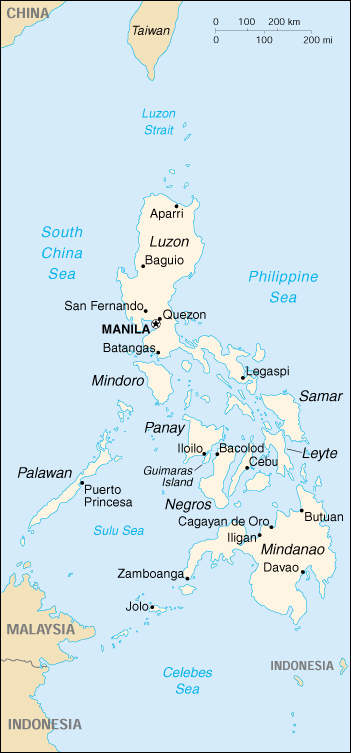 [Country map of Philippines]