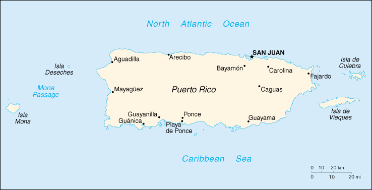 [Country map of Puerto Rico]