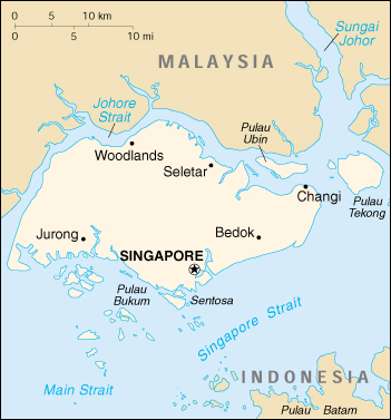 [Country map of Singapore]