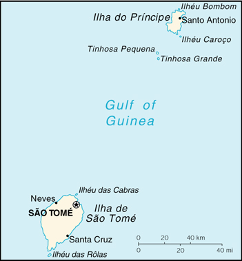 [Country map of Sao Tome and Principe]
